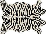 Tapisendirect Teppich Haut, Zebramuster. Coupe in Form hochwertiger SHAGGY 160 x 230 -sans Geruch von Leder.