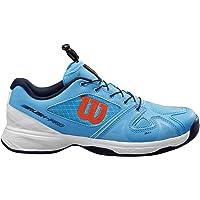 Wilson Rush Pro Jr QL, Scarpe da Tennis per Tutte le Superfici, per Tutti i Tipi di Giocatori Unisex-Bambini