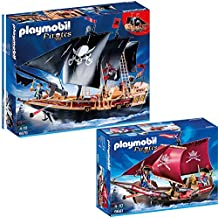 PLAYMOBIL® Piraten 2-tlg. Set 6678 Piraten-Kampfschiff + 6681 Soldaten-Kanonensegler