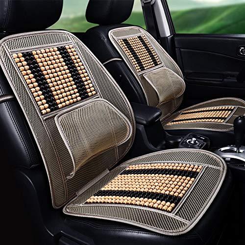 HoganeyVan Car Cushion 5727 Universal Massage Wood Beads Car Seat Cover Summer Cooling Cushion Mesh Mat (Massage Seat Cover Car)