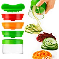 ALIOO Spiralizzatore di Verdure   Spiralizzatore Affetta Verdure Spaghetti  qualit agrave  Affettatrice Spirale Vegetale Veggetti  Zucchine Pasta Tagliatella Spaghetti   Pennello