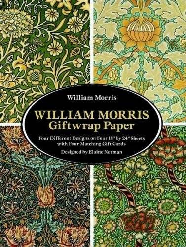 William Morris Giftwrap Paper: 4 Different Designs on Four 18
