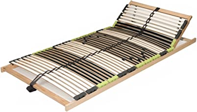 "7 Zonen Lattenrahmen Lattenrost 120 x 200 cm ""DaMi Relax Kopf"" zerlegt inkl. Härteverstellung 42 Federholzleisten"