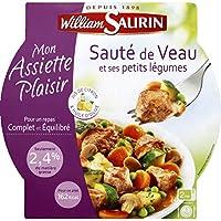 William Saurin - Mon assiette plaisir Saute de veau et ses petits legumes, jus citron et huile olive La barquette...