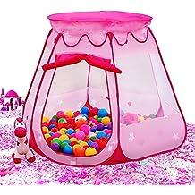 AUTOPKIO Palla portatili tende pieghevole Casette per bambini esagonale Fairy Princess gioco Tenda Pit Interni (4 Letto A Baldacchino)