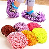 #6: Roods Lazy Mopping Shoes Floor Moppers Slippers Mop Floor Polishing Dusting Cleaning Cover Cleaner Cleaning Foot Socks ( 2 pcs)