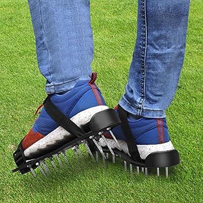 Yaheetech Rasenbelüfter Vertikutierer Nagel-Schuhe Rasen Universal Rasenlüfter