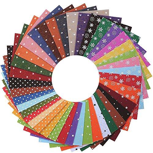 Filz Stoff DIY Handgefertigt Polyester Bastelfilz 40 Farben (15*15cm) (Stoff-banner Diy)