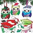 Kits couture Décorations chouettes pour Noël en feutre que les enfants pourront fabriquer et suspendre (Lot de 3)