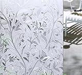 S.D.Maket Schönes Leben* Glasdekorfolie Fensterfolie Sichtschutzfolie Selbstklebend Milchglasfolie Fensteraufkleber Fenster Aufkleber Ohne Klebe 90x200cm (Tulpe)