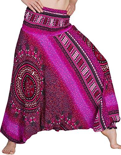 Zarlena Damen Pumphose Haremshose Pluderhose Hose Aladinhose Pink 525