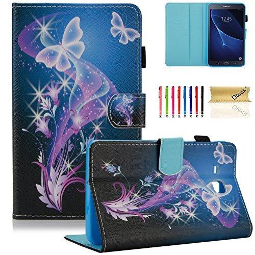 Galaxy Tab A 17,8cm Fall, T280, dteck (TM) Slim Gemustert PU Leder Case Flip Folio Ständer Shell Cover Protector für Samsung Galaxy Tab A 17,8cm sm-t280/sm-t285 00- Purple Butterfly - Oder Tasche Tablet Nook Nook Farbe