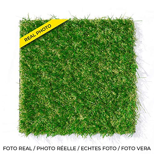 Leoturf LEO30 Premium erba artificiale di alta qualità 30mm / Altezza 30mm/ 100% Confezionamento Europeo/Combinazione di 4 fili colorati TENCATE GRASS/Rotolo di 1M X 5M.