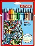 Premium-Filzstift - STABILO Pen 68-18er Pack - mit 18 verschiedenen Farben