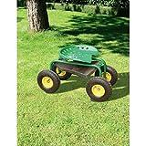 fahrbarer Gartensitz, Gartensitz auf Rädern, Stahlgestell mit Luftreifen