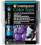 Chameleon Art Products - 5 Color Tops - Accessoires Chameleon pour des dégradés de Couleurs; Tons Froids