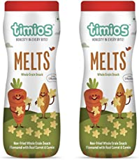 Timios Carrot and Cumin MELTS Natural Baby Energy Food Product Healthy Snack for Toddlers, Nutritious and Ready to Eat-Pack of 2