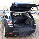 UK Custom Covers QBL187 Tailored Waterproof Quilted Boot Liner Mat (Dog Guard in Use)