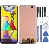 LuckyGGG Avant DFDA Super AMOLED Matériel D'écran LCD Et Digitizer Assemblée Complète for Samsung Galaxy M31 (Noir) Peaker (Color : Black)