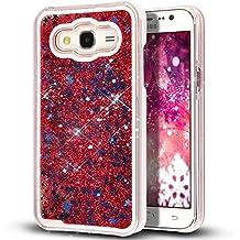 Galaxy j5008 caso, Galaxy j5008 nsstar [líquido] [brillo] caso, Galaxy J5008 [brillantes], diseño creativo fluido líquido bestdeal flotante con purpurina estrellas Carcasa rígida para Samsung Galaxy J5008 (NO para Samsung Galaxy j500), plástico, Stars:Red, Samsung Galaxy Core Prime G360