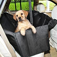 GHB Coprisedile Amaca Copertura Impermeabile con Doppio-Zip per Sedile Posteriore Auto Universale per Cane Animali Domestici Pet ecc - Nero