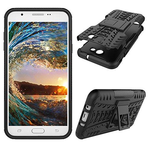 J3 Emerge Case, Reifenmuster-Design, strapazierfähig, extrem Schutz Hülle mit Kickstand, stoßdämpfend, abnehmbare 2-in-1 Schutzhülle für Samsung Galaxy J3 2017 / J3 Prime, H Hyun 1 (Galaxy Speck Samsung Case Express)