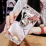 Étui Galaxy S7 Edge,Coque protecteur Galaxy S7 Edge,Charmant romantique Ours motif Housse Galaxy S7 Edge, ETSUE [Étui miroir Diamant en cristal brillant Bling Glitter] Galaxy S7 Edge Slicone Coque en caoutchouc,Ultra Mince Gel Coque pour Galaxy S7 Edge Souple Housse avec Anti-rayures Résistant aux chocs Anneau TPU Coque pour Samsung Galaxy S7 Edge,Galaxy S7 Edge Étui Case avec cadeau + 1 x Bleu stylet + 1 x Bling poussière plug (couleurs aléatoires) - Argent