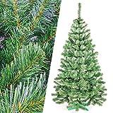 Hop-Sport Künstlicher Weihnachtsbaum Tannenbaum Christbaum Premium mit Ständer 220 cm (dunkelgrün)