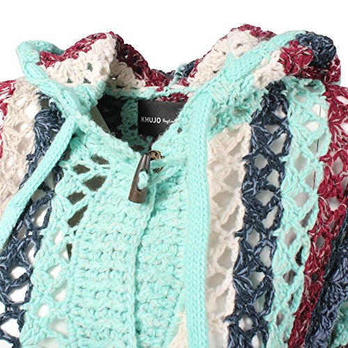 khujo Damen Strickjacke Laddy Chunky Cardingan Knit pause mix