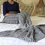 Butterme Meerjungfrau Decke, Handgemachte Häkeln Strickmuster, meerjungfrau flosse decke für Kinder und Erwachsener, Mermaid Blanket Schlafsack alle Jahreszeiten
