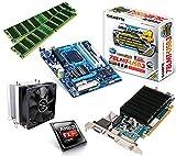 One PC Aufrüstkit | AMD FX-Series Bulldozer FX-8350, 8x 4.00GHz | montiertes Aufrüstset | Mainboard: Gigabyte GA-78LMT-USB3 | 16 GB RAM (2 x 8192 MB DDR3 Speicher 1600 MHz) | CPU Mainboard Bundle | Grafik: 2048 MB AMD Radeon R5 230 (1GB GDDR3 + 1GB Hypermemory | Passiv) DVI, HDMI, VGA | komplett fertig montiert!