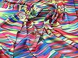 Abstrakt Print Seidiger Satin Kleid Stoff, Meterware, Rot