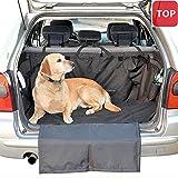 Hunde Autoschondecke Kofferraum Rutschfest Robust und Wasserdicht 160 x 120cm Schwarz
