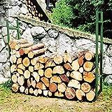 Vetrineinrete® Portalegna in ferro scaffale struttura per ceppi di legno porta legna da camino giardino garage 120x24x95 cm C30