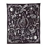 Jeteven 165x148 cm Tappeto da Parete Boho Tapestry Hippie Picnic Tavolo da Spiaggia Stampato