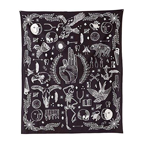 Jeteven Wandteppich Wandtuch Yoga Wandbehang Tapisserie Hippie Tapestry Picknickdecke Staubtuch Tischdecke Wand Dekor Foto Requisiten aus Polyesterfaser, Gotisch Böhmen Stil (Gothic, 165 x 148 cm)