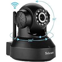 (Renewed) Sricam SP Series SP005 Wireless HD IP Wi-Fi CCTV Indoor Security Camera (Black)