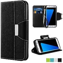 Coque Galaxy S7 Edge, Vakoo Etui [book-style] PU Cuir Case Cover Housse pour Samsung Galaxy S7 Edge (Noir)