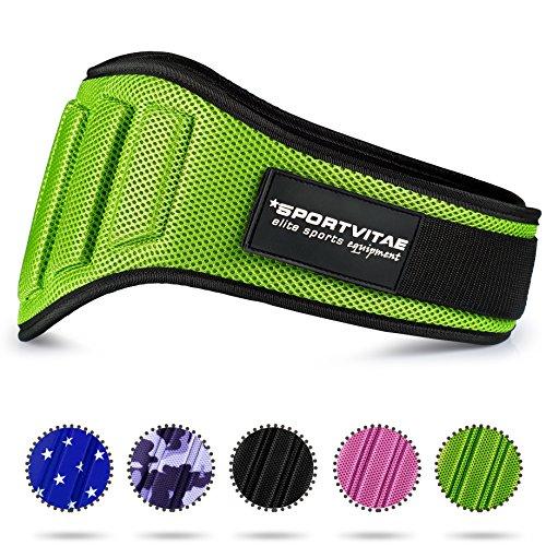 Sportvitae Cinturón Musculación Crossfit Halterofilia Powerlifting Protección Lumbar Ligero Ajustable