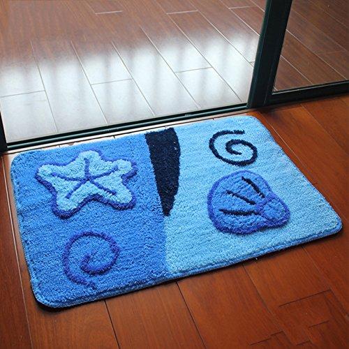 Aik@ antisdrucciolo bagno zerbini,assorbente tappetino moderna poliestere tappeti tappeto d'ingresso facile da pulire-l 80x120cm(31x47inch)