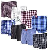 4, 8 oder 12 Stück lockere, gewebte Boxershorts; größtenteils Karierte Boxer; Loose fit American Style Größen S/4 bis 4XL/10 lieferbar, 8 Boxershorts, L / 6