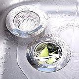 Coladores de desagüe, 2pcs acero inoxidable fregadero de cocina Colador de drenaje protectores ideal para cocina y baño fregaderos 4tamaño disponible (115mm)