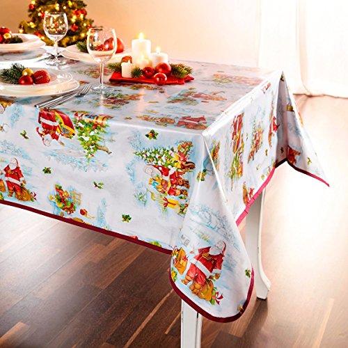 """Preisvergleich Produktbild Tischdecke """"Santa"""" , Tischdecke mit weihnachtlichem Motiv"""