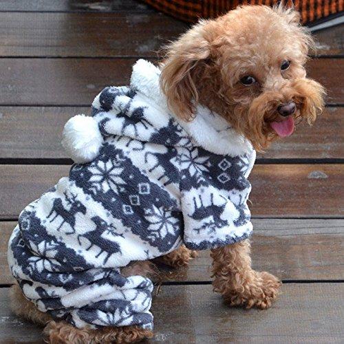 Sweatshirt Mit Kapuze Mantel Kleidung Pullover Haustier Welpen T-Shirt Weste Hund T Shirt Kleid Weihnachten Mode Warme Overall Doggy Bekleidung ()
