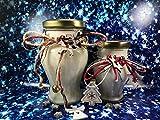 Buon Natale Giara con candela profumata in due misure, aroma speziato a scelta, nastrino decorativo a tema natalizio, in cera di soia Regalo di Natale