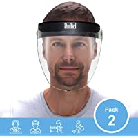 Steelbird SBA-2 7Wings Visor Face Shield,Static Face Protection Shield, Full Face Protector For All Front Line Warriors ( Doctors, Nurses, Police, Shopkeepers, Any staff ) - Protects From Unwanted Bacteria, Viruses And Airborne Infections (Pack of 2)