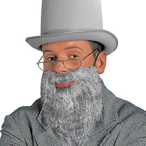 iner Vollbart Falscher Judenbart mit Schnurrbart Juden Herrenbart mit Mustache Amish Herren Kunstbart Religion Jüdischer Priester Faschingsbart Opa Karneval Kostüm Zubehör (Amish Kostüm)