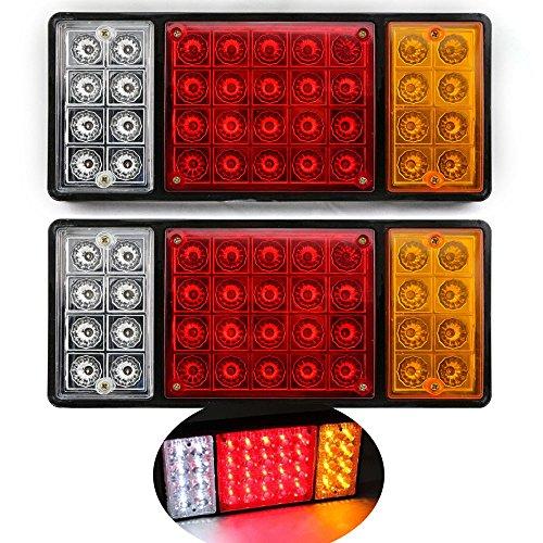 Shsyue 12V Etanche Feu Arrière LED Feu Arrière Caravan pour Remorque d'un Camion Ute 3 Couleurs