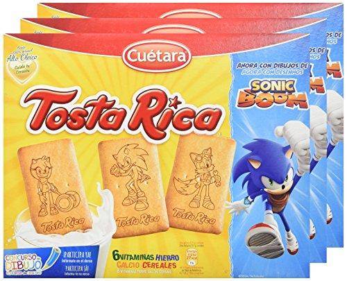 Cuétara Tosta Rica - Galletas, 570 g - [pack de 3]