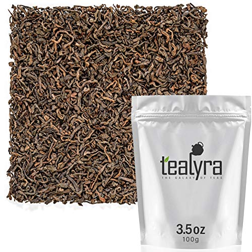 Tealyra - 35 Years Golden Royal Pu-erh Ripe - Rare Guangxi Aged Pu Erh - Loose Leaf Tea - Healthy Tea - Bold Caffeine - 100g (3.5-ounce)